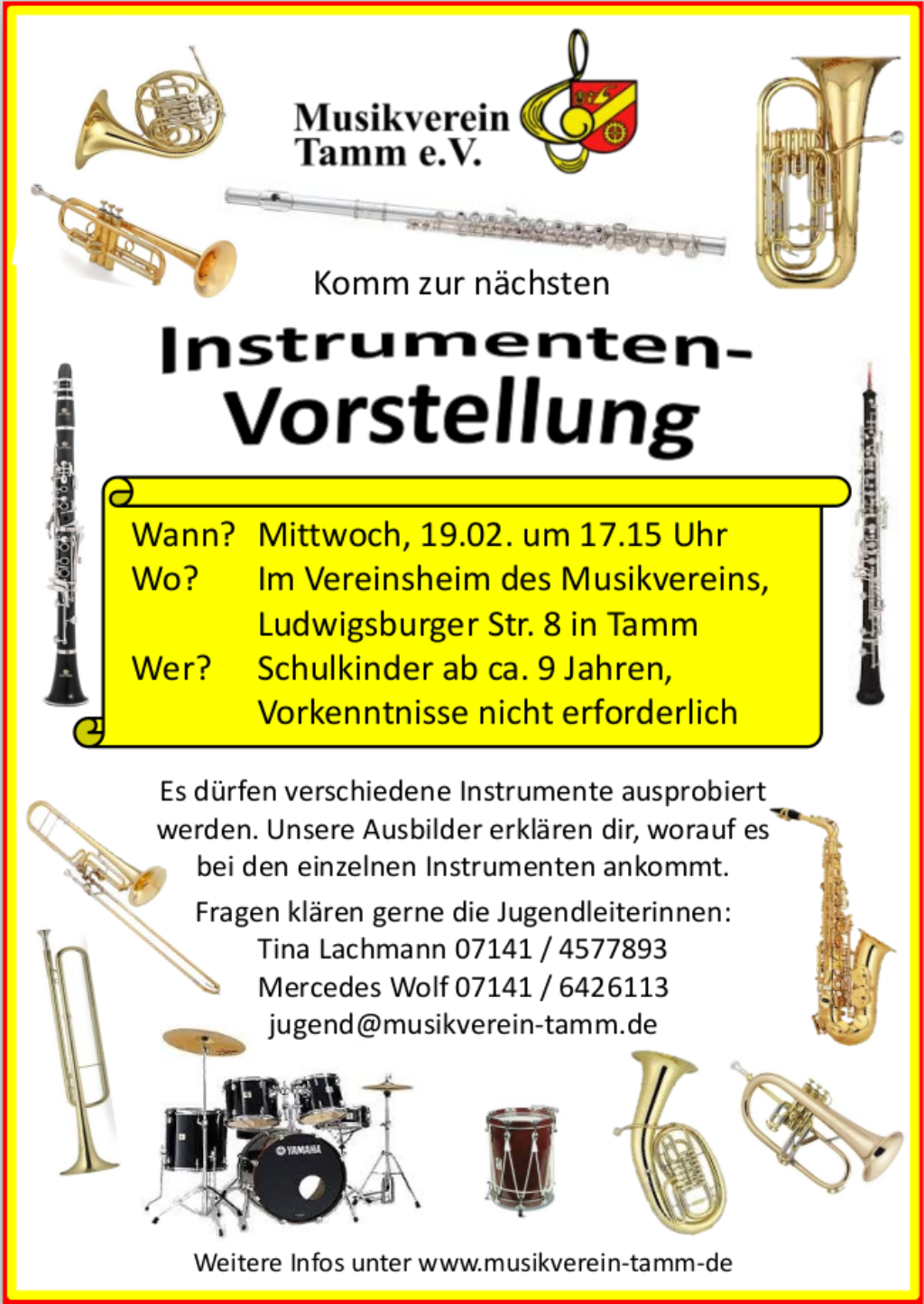Instrumentenvorstellung im Vereinsheim